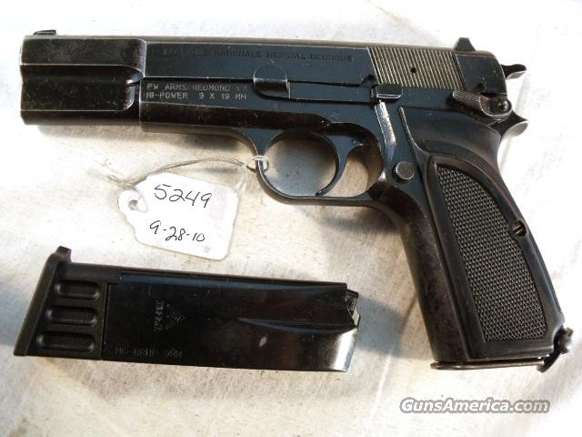 FN Browning 9mm Hi-Power Israeli G-VG 1992 w/2 Magazines  Guns > Pistols > FNH - Fabrique Nationale (FN) Pistols > High Power Type