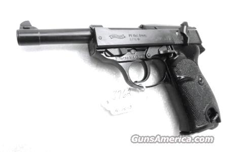 Walther 9mm P38 variant P1 Lightweight Military 1976 P-1 German Federal Border Guard BGS P-38 Descendant CA OK with 1 Factory 8 Shot Magazine  Guns > Pistols > Walther Pistols > Post WWII > P38