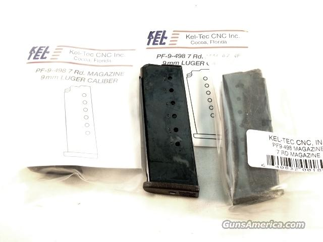 Magazine for Kel-Tec 9mm model PF9 Blue New Factory 7 Shot 9mm Automatic PF-9 New Factory Kel Tec Tech Teck   Non-Guns > Magazines & Clips > Pistol Magazines > Other