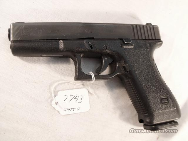 Glock 9mm model 17 VG 18 Shot 1 Magazine Tampa PD 1996 with Factory Night   Guns > Pistols > Glock Pistols > 17