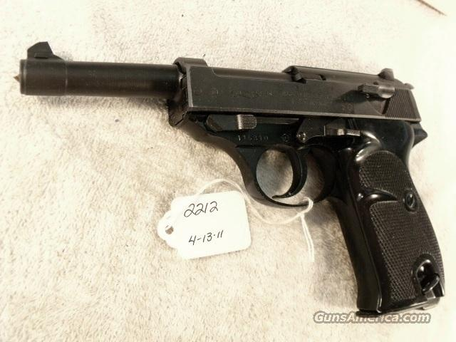Walther 9mm P-38 Lightweight Parkerized VG 1960 P38 Federal German Police Bundespolizei C&R OK CA OK  Guns > Pistols > Walther Pistols > Post WWII > Large Frame Autos
