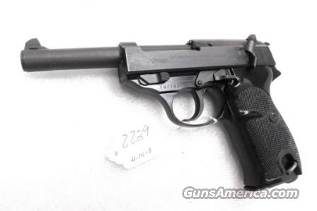 Walther 9mm P38 Lightweight Military 1962 P-38 German Federal Border Guard BGS CA C&R OK with 1 Factory 8 Shot Magazine  Guns > Pistols > Walther Pistols > Post WWII > P38
