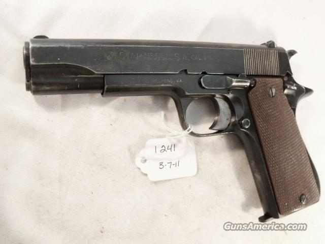 Star Spain 9mm Model B Colt Government Size Steel Frame 1941 Israeli Army Police VG 1 Magazine  Guns > Pistols > Surplus Pistols & Copies