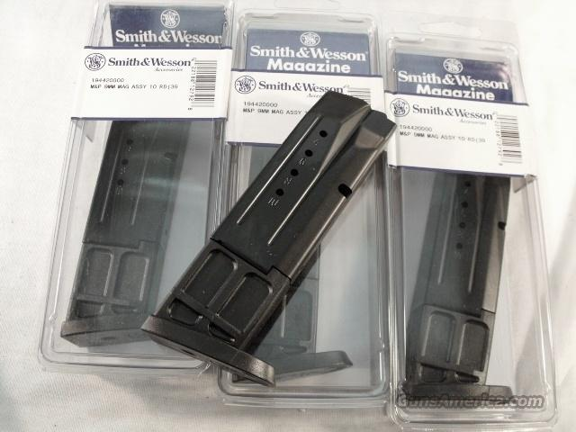Magazine S&W MP-9  9mm CA Compliant Blue Steel 10 Round Brand New Smith & Wesson Factory M&P 9 SKU 19442  Non-Guns > Magazines & Clips > Pistol Magazines > Smith & Wesson