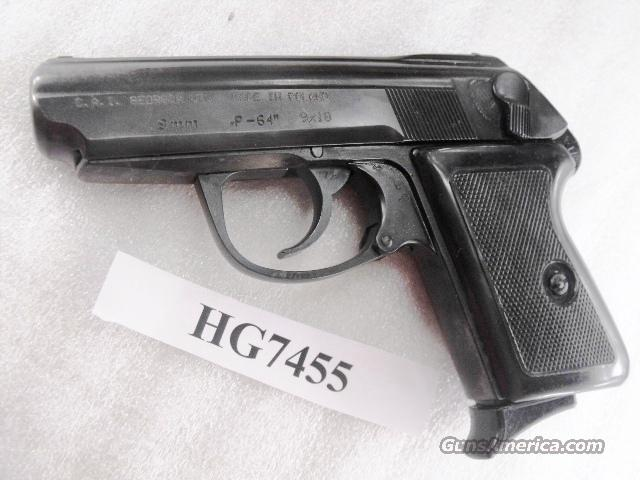 Radom 9x18 Model P64 Excellent Condition Polish Federal Police P-64 9mm Makarov Lucznik Poland 1969 with 1 Magazine   Guns > Pistols > Surplus Pistols & Copies