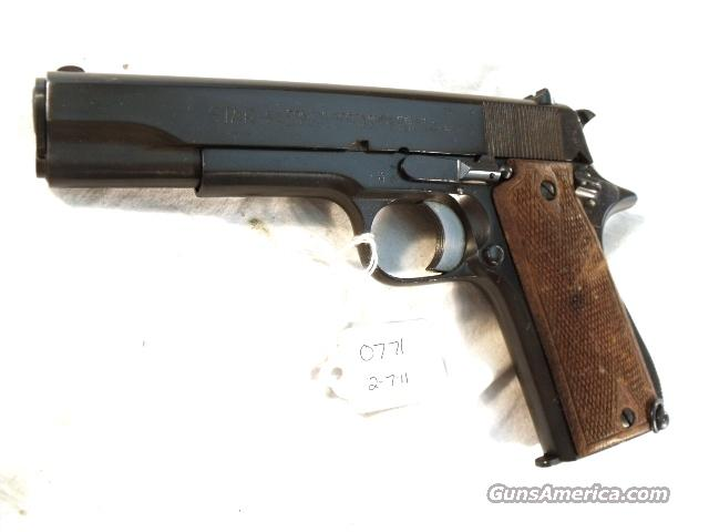 Star 9mm Model B Colt Government Size Steel Frame WWII 1943 Israeli Army Police Exc Armorer Refinish 1 Magazine  Guns > Pistols > Surplus Pistols & Copies