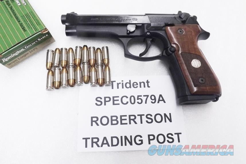 Beretta 9mm model 92FS Trident Special Edition 18 Shot Walnut Grips 2 ACT-Mag Magazines NIB JS92F300M type SPEC0579A   Guns > Pistols > Beretta Pistols > Model 92 Series