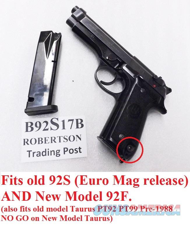 Beretta Old Model 92S Magazines ACT-Mag 9mm 17 round Bright Blue Italian Made Act Mag B92S17B Buy 3 Ships Free!   Non-Guns > Magazines & Clips > Pistol Magazines > Beretta