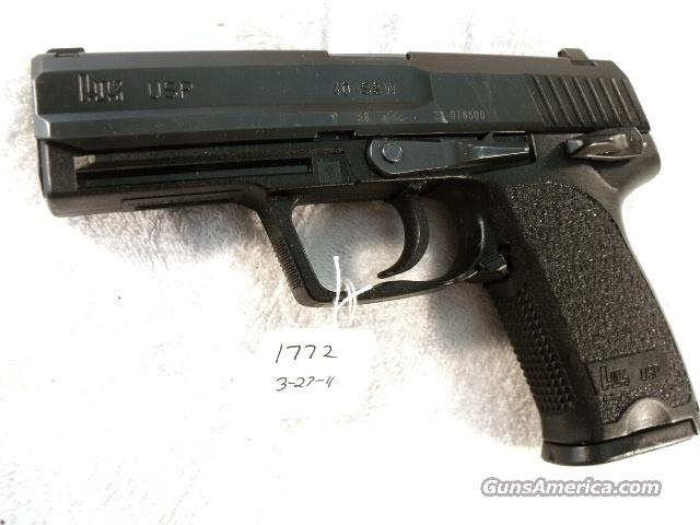 H&K .40 USP Variant 3 Decocker VG 14 Shot 2001 w/1Mag Heckler & Koch USP  Automatic 40 Smith & Wesson Caliber  Guns > Pistols > Heckler & Koch Pistols > Polymer Frame