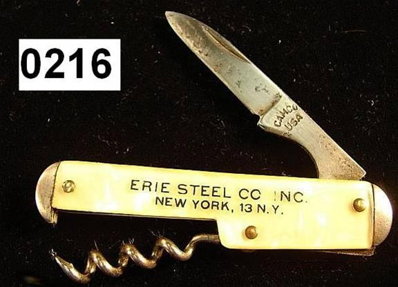 Knife: Camco Advertising Bottle Knife VG 1940s  Non-Guns > Knives/Swords > Knives > Folding Blade > Imported