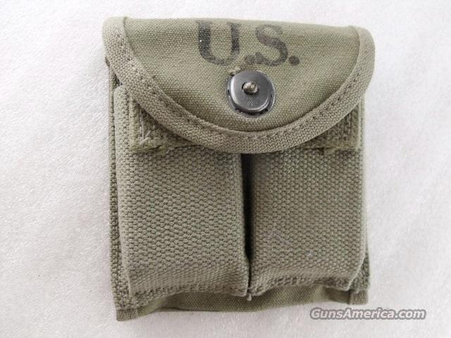 1943 Dated US Military Magazine Pouch for M-1 Carbine with 2 each 15 round Magazines Excellent Possible Reproduction  Non-Guns > Magazines & Clips > Pistol Magazines > Other