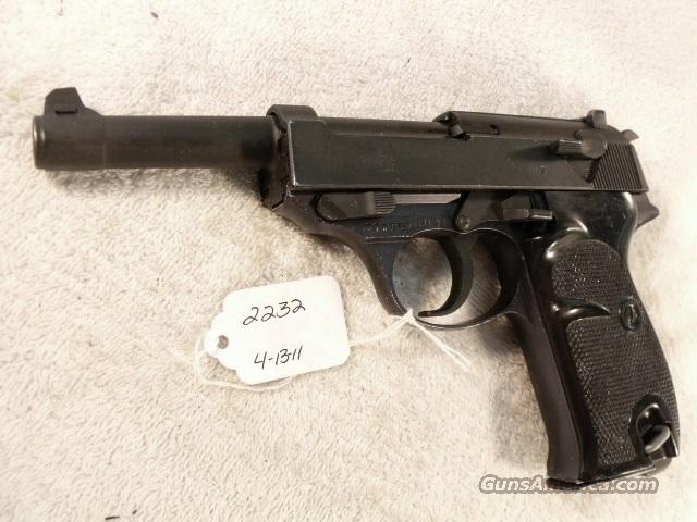 Walther 9mm P-38 variant Parkerized VG 1958 P38 Federal German Police Bundespolizei   Guns > Pistols > Walther Pistols > Post WWII > Large Frame Autos