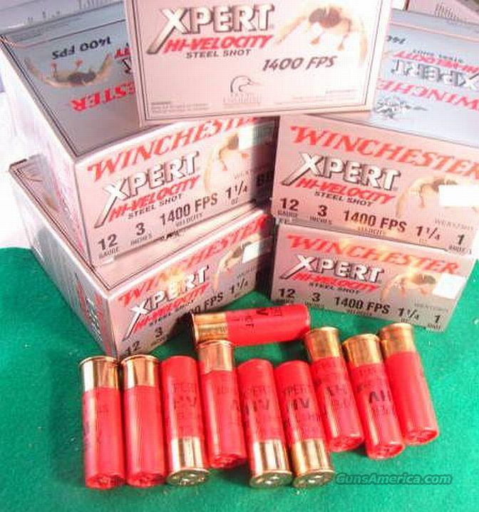 Ammo: 12 ga Win 3 inch Mag 1 1/4 oz #1 or BB Steel 1400 fps 250 round Case of 10 Boxes  Non-Guns > Ammunition