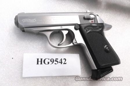 Walther .380 PPK Stainless 7 Shot Excellent in Box 2 Magazines 380 Automatic VAH38002 S&W Stamped  Guns > Pistols > Walther Pistols > Post WWII > PPK Series