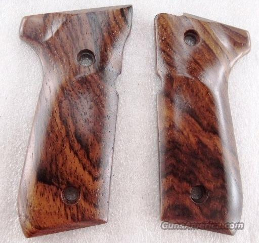 Beretta 92FS Grips Herretts Smooth Raised Exotic Cocobolo Wood GRHER9723 fits 92SB 92SBF 92F 92FS M9 and 96 .40 or 9mm Full Size Grip Frame Only   Non-Guns > Gun Parts > Grips > Other