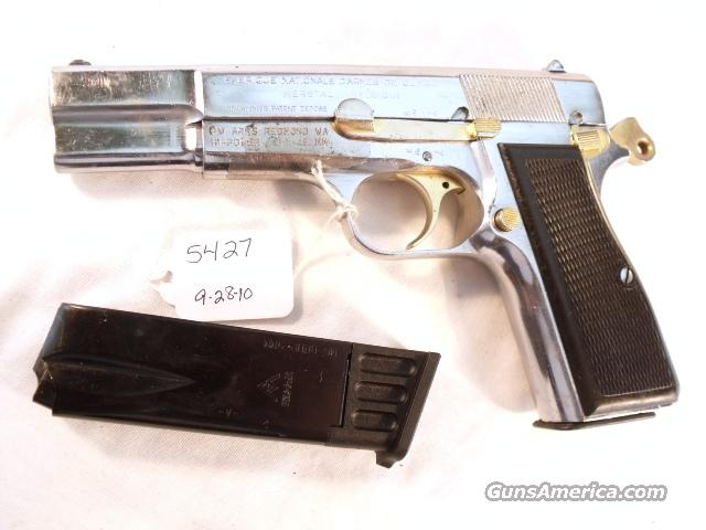 FN Browning 9mm Hi-Power Israeli ca 1953 Chrome w/2 Magazines High Power HiPower Belgium Belgian Fabrique Nationale  Guns > Pistols > Browning Pistols > Hi Power