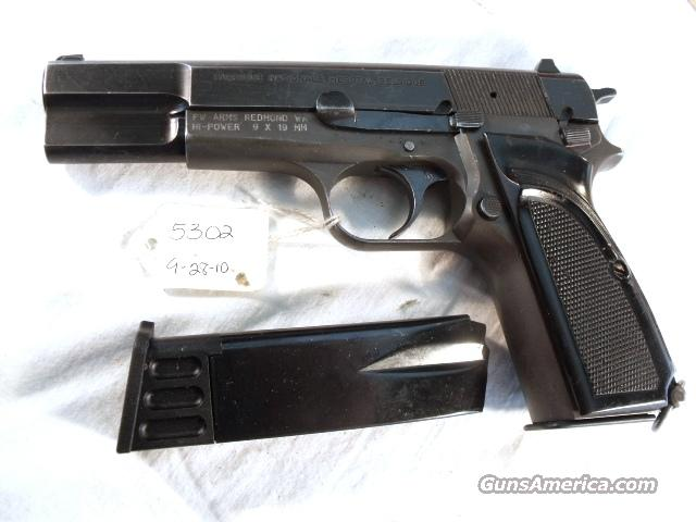 FN Browning 9mm Hi-Power Israeli G-VG 1958 Updated w/2 Magazines  Guns > Pistols > FNH - Fabrique Nationale (FN) Pistols > High Power Type