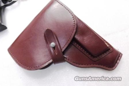 Walther PP Size Holster East German Military & Police Brown Leather Flap Type for 1001 Pistol PPK PPKS CZ50 CZ70 Fits Many 32 380 and 9x18 Makarov Caliber Pistols  Non-Guns > Holsters and Gunleather > Concealed Carry