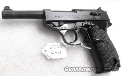 Walther 9mm P38 variant P1 Lightweight Military 1965 P-1 German Federal Border Guard BGS P-38 Descendant CA OK with 1 Factory 8 Shot Magazine  Guns > Pistols > Walther Pistols > Post WWII > P38