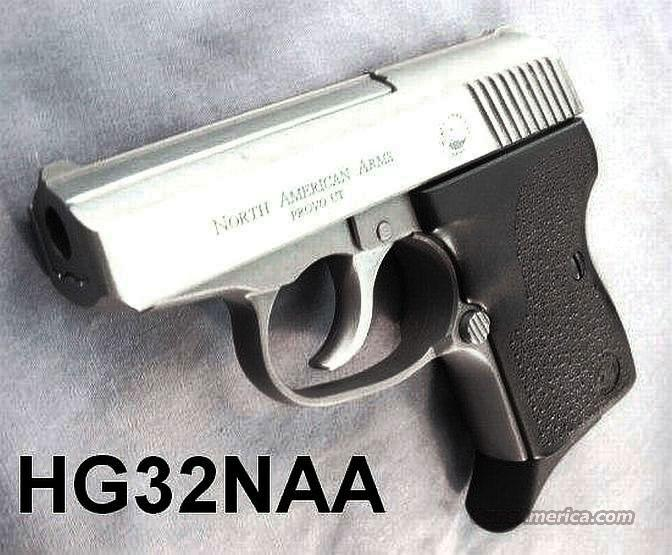 North American .32 ACP Guardian NAA32 Automatic Stainless 8 Shot 2 Magazines NIB  Guns > Pistols > North American Arms Pistols