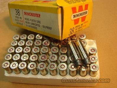 Ammo: Winchester .38 Spl 158 Lead HP Police Marked Late 1960s 38 Special Lead Hollow Point probably Memphis PD  Non-Guns > Collectible Cartridges