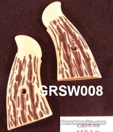 Grips S&W K Sq Imitation Stag Chicago 1960s Hillbilly VG  Non-Guns > Gun Parts > Grips > Other