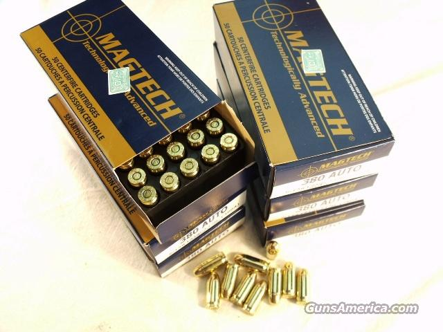 Ammo: .380 ACP Mag-Tech 250 Round Lot of 5 Boxes 95 grain FMC FMJ Ammunition Cartridges 380 Automatic Magtech teck S&B Affiliate Ammunition Cartridges  Non-Guns > Ammunition