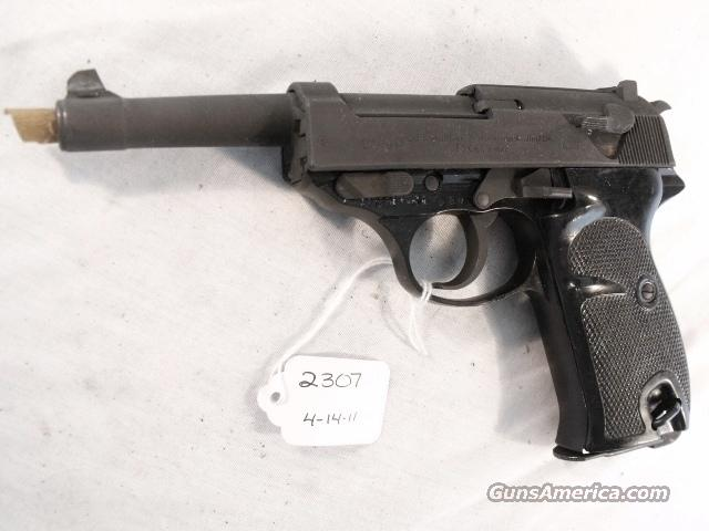 Walther 9mm P-38 variant P1 Lightweight Parkerized VG-Exc 1965 P-1 Federal German Police Bundespolizei CA OK P38   Guns > Pistols > Walther Pistols > Post WWII > Large Frame Autos