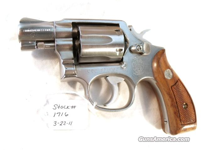 Smith & Wesson .38 Special model 64-2 Stainless Snub 2 inch Pinned Barrel Round Butt California Dept of Corrections VG Reagan Era 1986.   Guns > Pistols > Smith & Wesson Revolvers > Full Frame Revolver