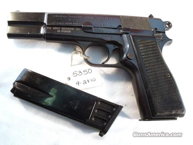 FN Browning 9mm Hi-Power Israeli G-VG ca 1950 w/2 Magazines  Guns > Pistols > FNH - Fabrique Nationale (FN) Pistols > High Power Type