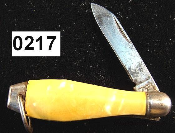 Knife: Arm and Hammer Bowling Pin Novelty Knife VG 1950s  Non-Guns > Knives/Swords > Knives > Folding Blade > Hand Made