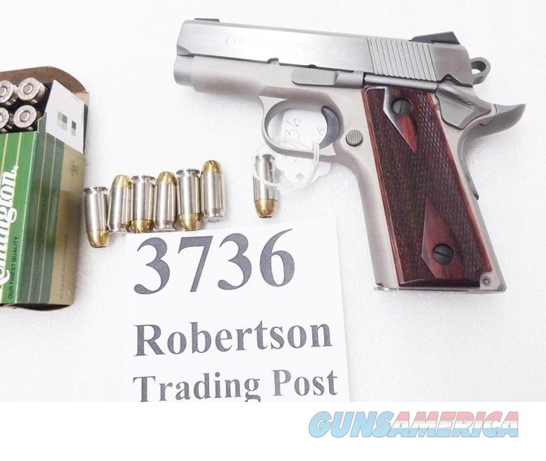 Colt .45 ACP Defender Lightweight Sub Compact Stainless 3 inch 8 Shot Night Sights 2 Mags Factory Tuned 2 grips Extras Exc in Box O7000D CA OK   Guns > Pistols > Colt Automatic Pistols (1911 & Var)