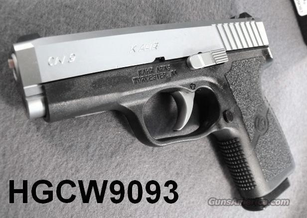 Kahr Arms 9mm Model CW 9 Packed NIB Karr CW-9 8 Shot 1 Magazine CA MA OK CW9093 + Free Magazine From Kahr.   Guns > Pistols > Kahr Pistols