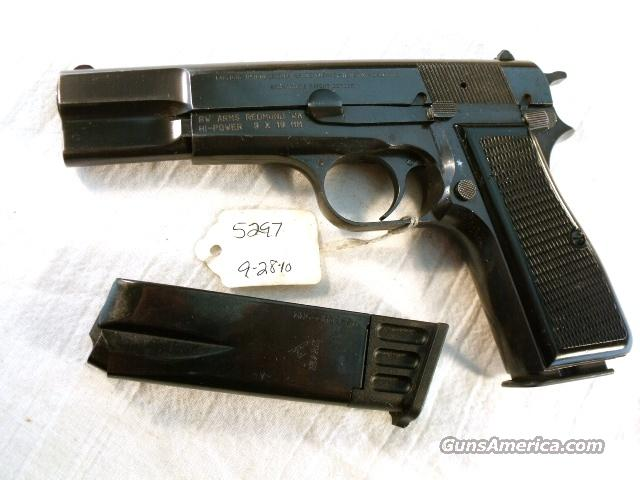 FN Browning 9mm Hi-Power Israeli Police VG 1970 w/2 Magazines Fabrique Nationale High Power HiPower Belgian Belgium  Guns > Pistols > Browning Pistols > Hi Power