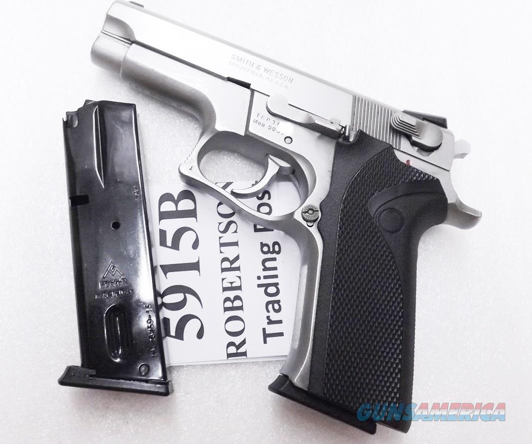 Smith & Wesson 59 5906 5900 15 Round Magazine Mec-Gar Blue  MGSW5915B S&W 59 5900 Series Mec Gar 15 Shot fits Daewoo models 469 669 6904 6906 5903 5904 910 5906 5946 5986 New$ 3 Ship, 3 ship  Free  Non-Guns > Magazines & Clips > Pistol Magazines > Smith & Wesson