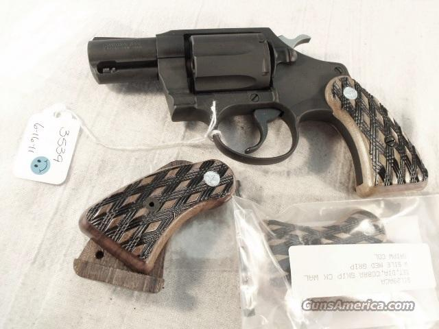 Grips Colt Detective Special Sile 1970s Magna Size Skip Checkered New Cobra Agent Courier   Non-Guns > Gunstocks, Grips & Wood