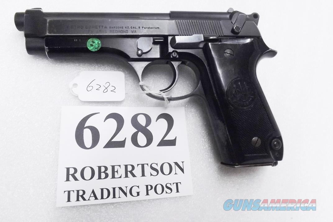 Beretta 9mm model 92S Italian Military Police JS92F300M type / ancestor c1978 16 Round 1 Pre-Ban Magazine Gloss Anodized Frame Factory Oxide Barrel Brunitron Slide Good 7GM  Guns > Pistols > Beretta Pistols > Model 92 Series