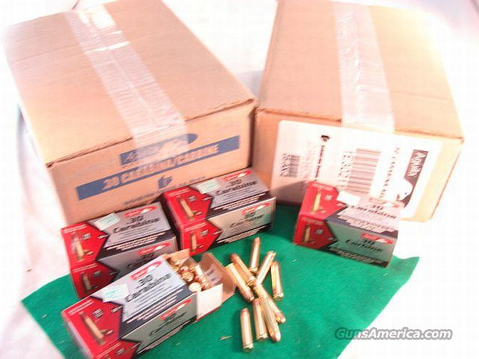 Ammo: .30 Carbine 500 Round Lot of 10 Boxes Aguila 110 grain FMC Brass Case Full Metal Jacket Remington Affiliate  Non-Guns > Ammunition