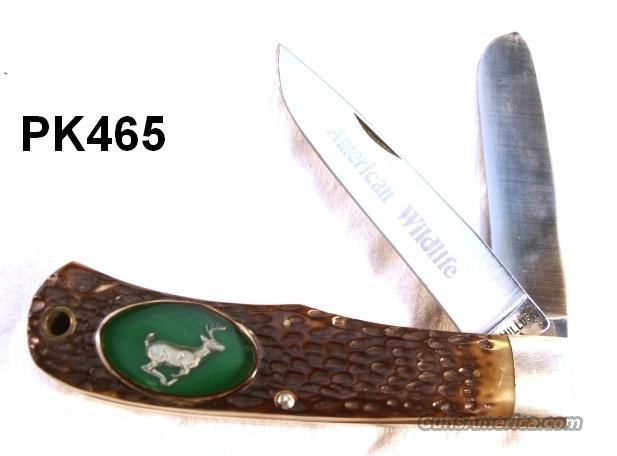 Knife Camillus Folding Hunter #10 American Wildlife Mint 1970s  Non-Guns > Knives/Swords > Knives > Folding Blade > Imported