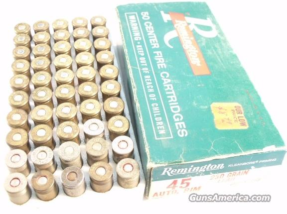 Ammo: .45 Auto Rim Buford Pusser Colleague Estate 1960s Ammunition Collector Cartridges 45 ACP Auto Rim for Revolvers only  Non-Guns > Collectible Cartridges