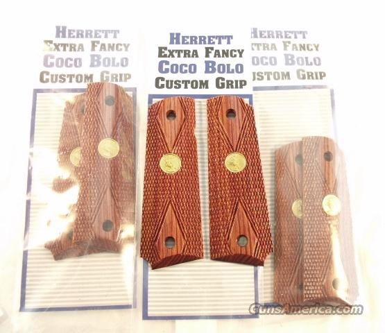Grips Colt Logo 1911 Cocobolo Diamond Herrett New # COL0266  Non-Guns > Gunstocks, Grips & Wood