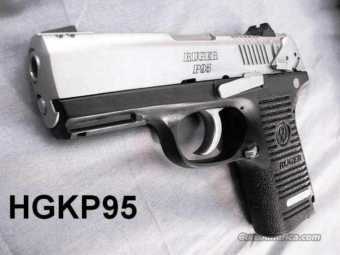 Ruger 9mm Model P95 Stainless & Polymer NIB Standard Ambidextrous Safety 2 15 shot Magazines P-95 KP95PR15 13014  Guns > Pistols > Ruger Semi-Auto Pistols > P-Series