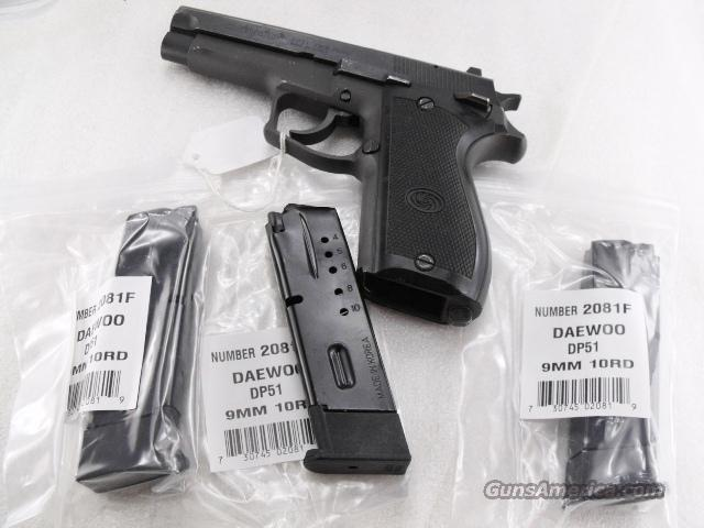 Lots of 3 or more Magazines Daewoo 9mm 10 Shot Factory model DP51 Blue Steel 10 Shot Factory Blue Steel Flush Fit DP-51 Auto  Non-Guns > Magazines & Clips > Pistol Magazines > Other