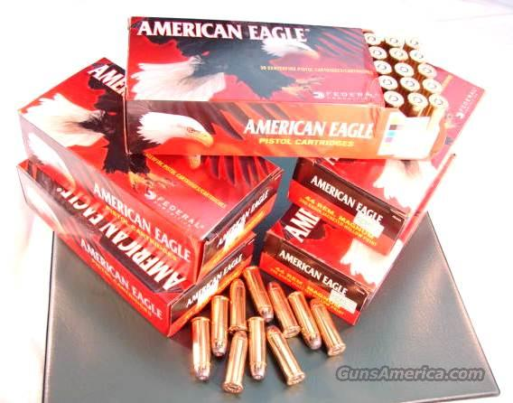 Ammo: .44 Magnum Federal 50 Round Boxes American Eagle 240 grain JHP Jacketed Hollow Point 44 Remington Magnum Hollow Point  Non-Guns > Ammunition