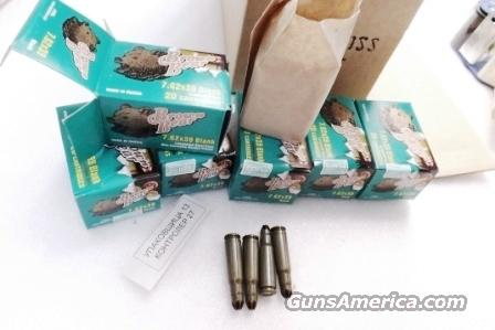 Ammo: 7.62x39 Blank Training Rounds 500 Round Case of 25 Boxes Laquered Steel Case Barnaul Russia Brown Bear Crimped Cases $5.56/ Box in Case Lots only  Non-Guns > Ammunition