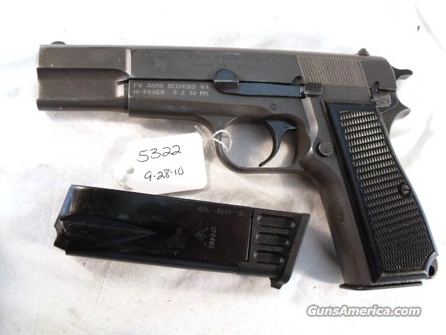 FN Browning Hi-Power 9mm Israeli VG 1964 Military Parkerized w/2 Magazines High Power HiPower  Guns > Pistols > Surplus Pistols & Copies