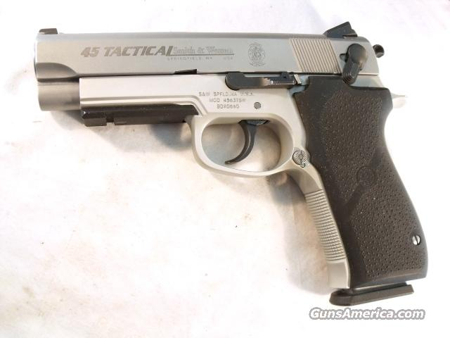 S&W .45 ACP 4563TSW Rail LWT Commander Size Exc 2003 FNS Box 3 Mags  Guns > Pistols > Smith & Wesson Pistols - Autos > Steel Frame