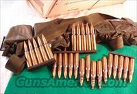 Ammo: .308 British Military 750 round wood crate Radway Arsenal in rubber sealed 75 round battle pack bandolier Radway Arsenal 7.62 762x51 NATO 308 Winchester Full Metal Case Jacket   Non-Guns > Ammunition