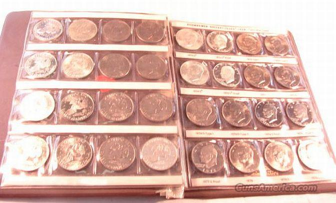 Silver US Dollar Set Eisenhower with 40% Proofs 1971-1978 All BU 32 Coins  Non-Guns > Coins
