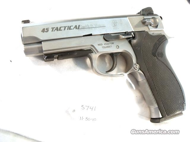 S&W .45 ACP 4566TSW Rail Commander Size VG Night Sights 3 Mags  Guns > Pistols > Custom Pistols > Other